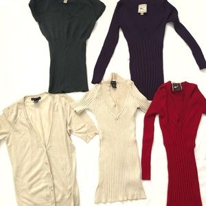 Tops - Lot of 5 women's Sweater shirts size small